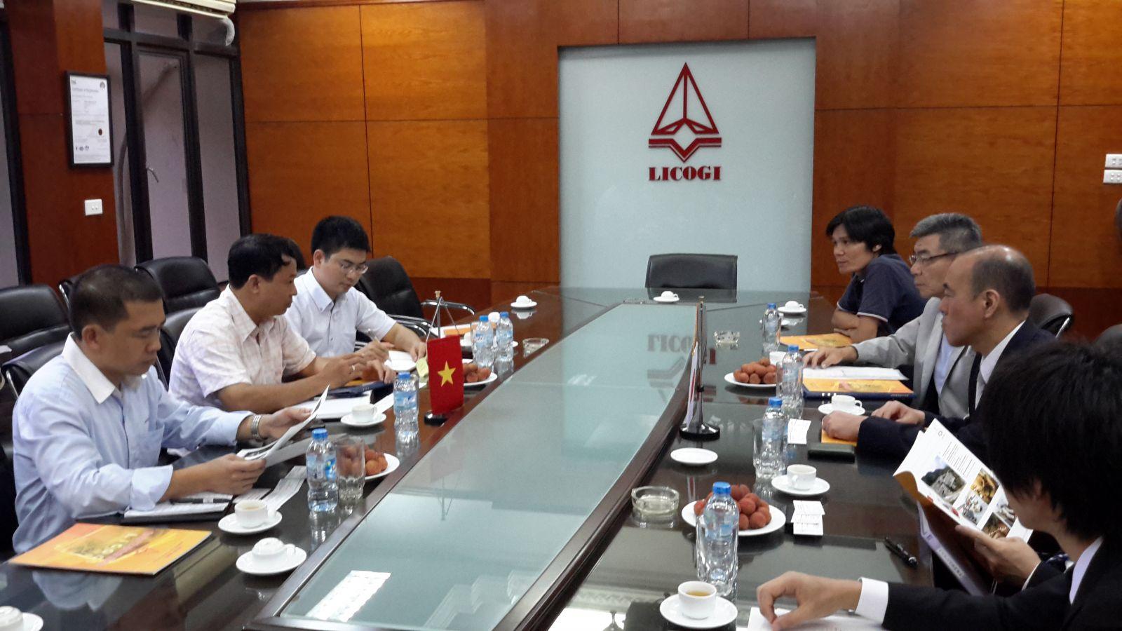 吉岡建設(株)はLICOGI 総会社へ訪問し、打ち合わせ
