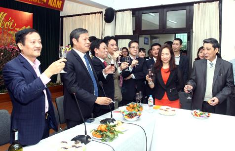 CBCNV khối văn phòng cơ quan Tổng công ty Licogi vui đón xuân mới